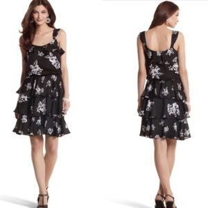 White House Black Market Tiered Floral Dress (4)